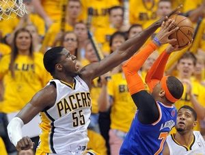Hibbert finished 4th in the NBA in blocks per game. Credit: archive.indystar.com